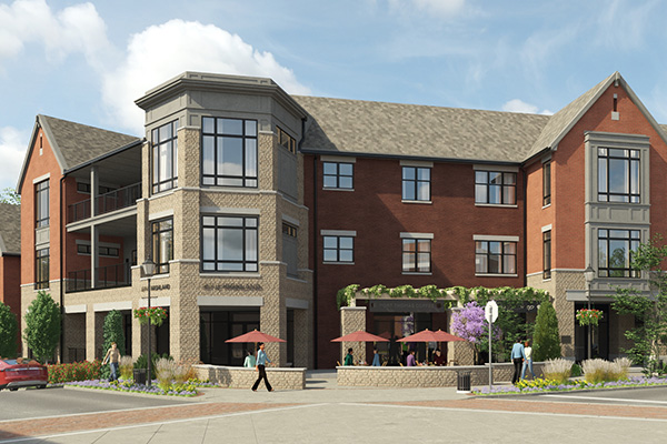 Outdoor Plaza, Coffee Shop and Wine Bar