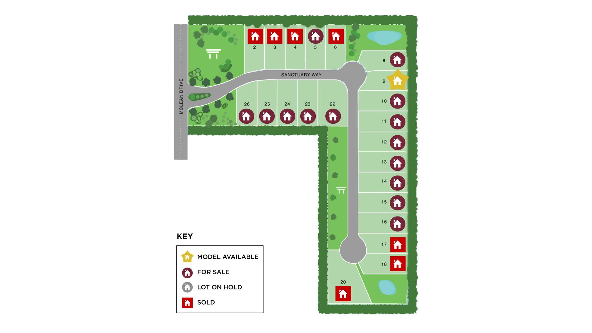 Villas of Cherry Grove Site Map