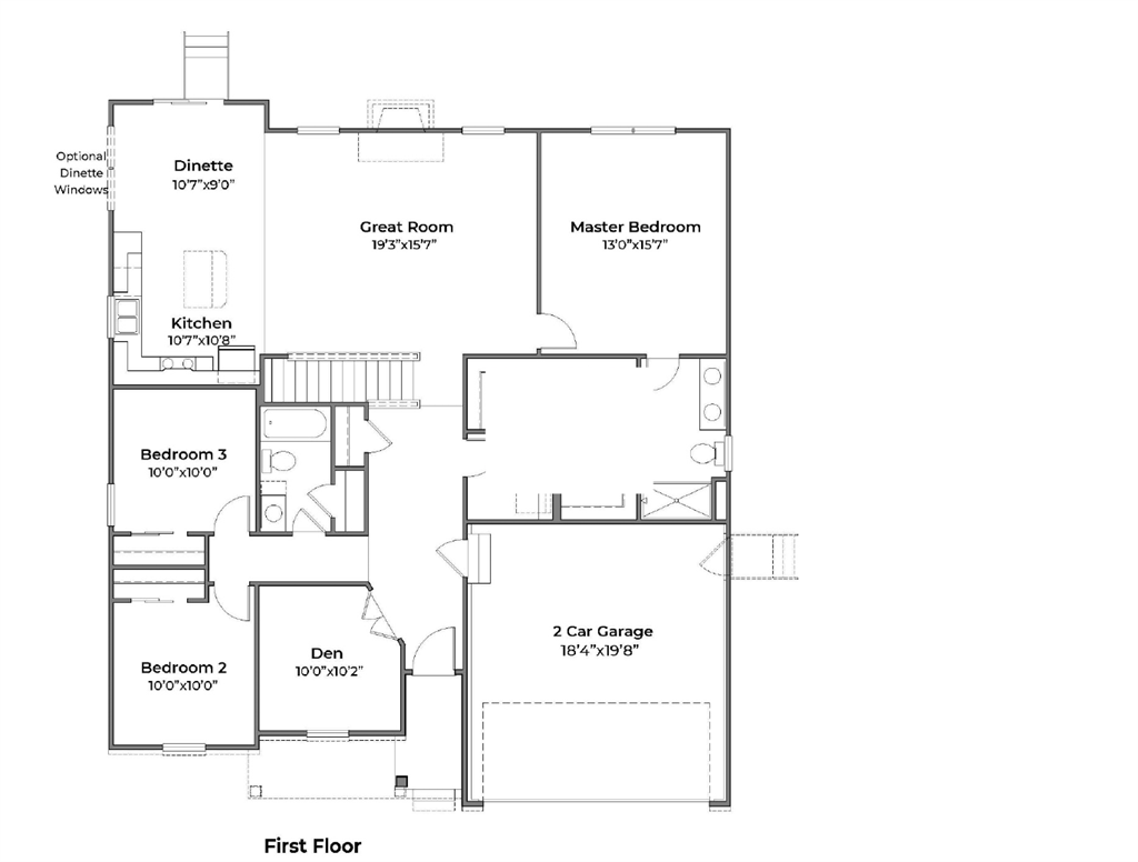 Floor Plan for 331 Irons Run Ct Lebanon, OH 45036