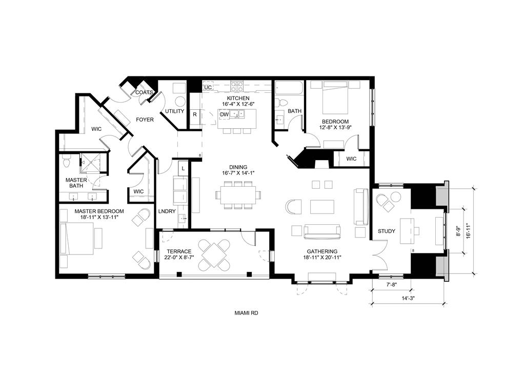 Floor Plan for 3818 Miami Rd, 205 Mariemont, OH 45227