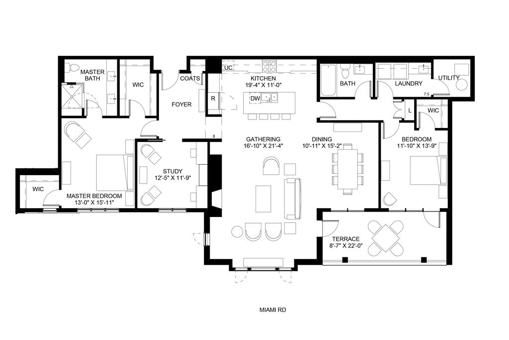 Floor Plan for 3818 Miami Rd, 203 Mariemont, OH 45227