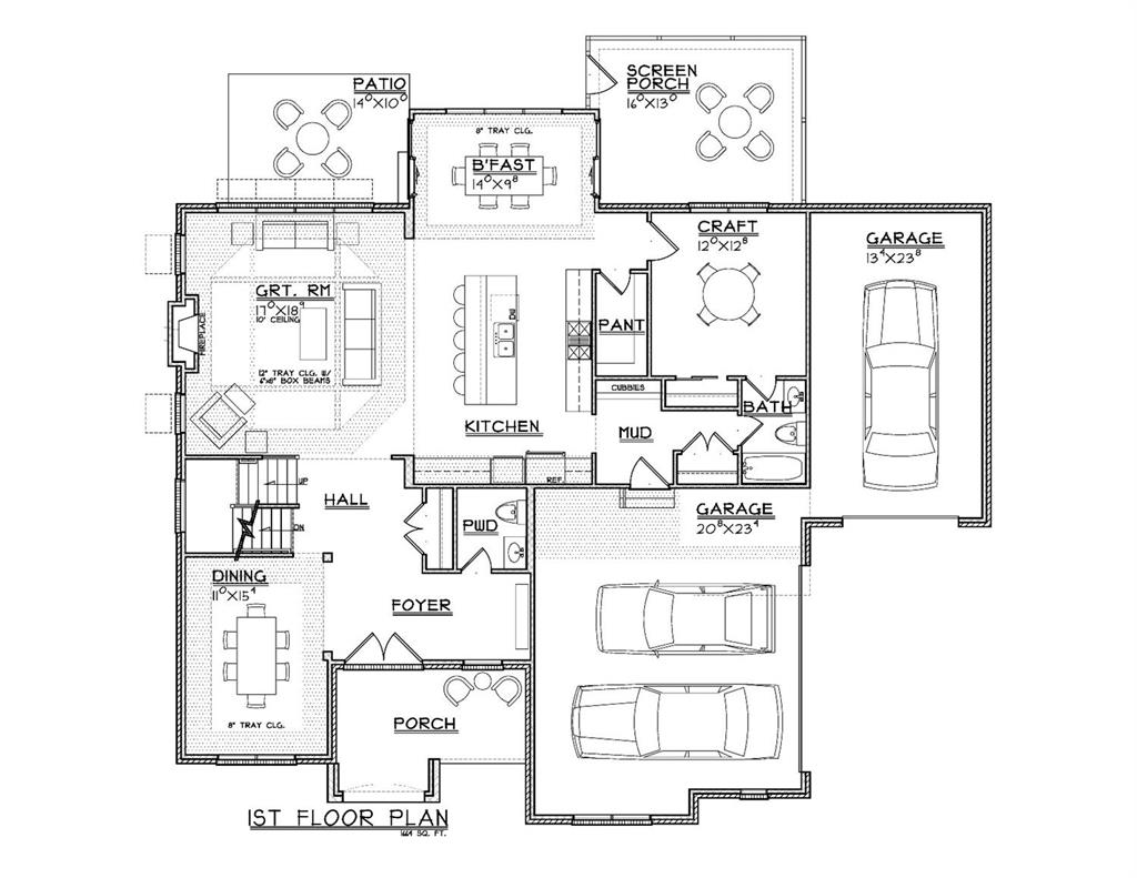 1st Floor Plan for 9218 Stonewood Court Symmes Twp., OH 45242
