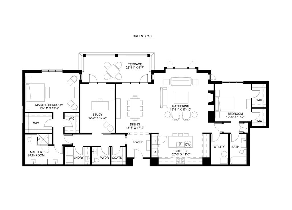 Floor Plan for 3818 Miami Rd, 104 Mariemont, OH 45227
