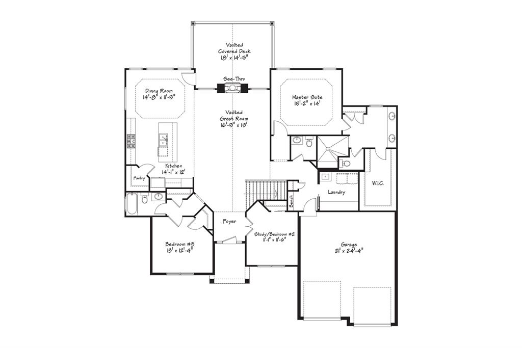 Floor Plan for 3362 Mohler Woods Ln #Lot 3 Evendale, OH 45241