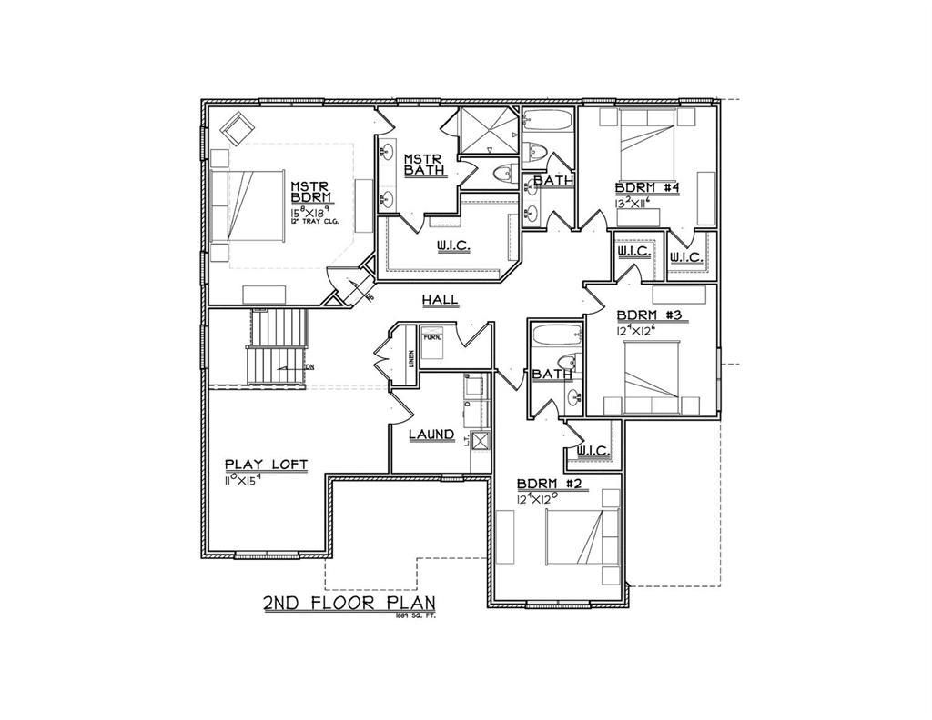 2nd Floor Plan for 9218 Stonewood Court Symmes Twp., OH 45242