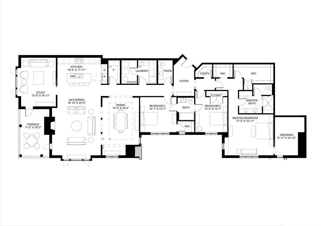 Floor Plan for 3818 Miami Rd, 201 Mariemont, OH 45227