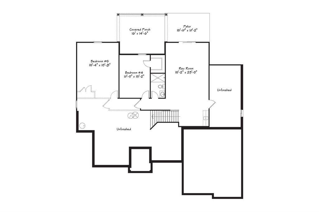 Lower Level Floor Plan for 3362 Mohler Woods Ln #Lot 3 Evendale, OH 45241