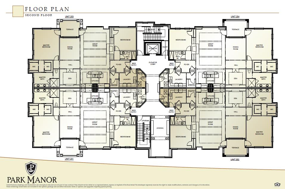 Floor Plan for 9506 Park Manor, 202 Blue Ash, OH 45242