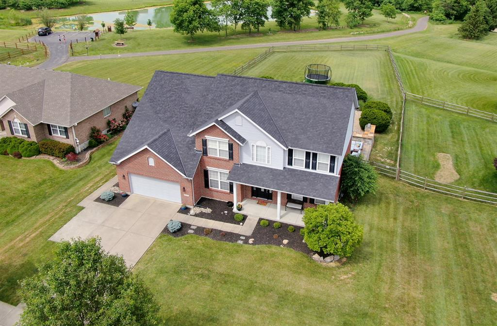 Aerial Of Front Exterior for 4632 Watoga Dr Liberty Twp., OH 45011