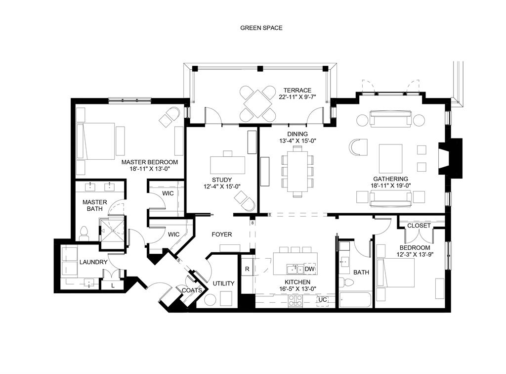 Floor Plan for 3818 Miami Rd, 106 Mariemont, OH 45227