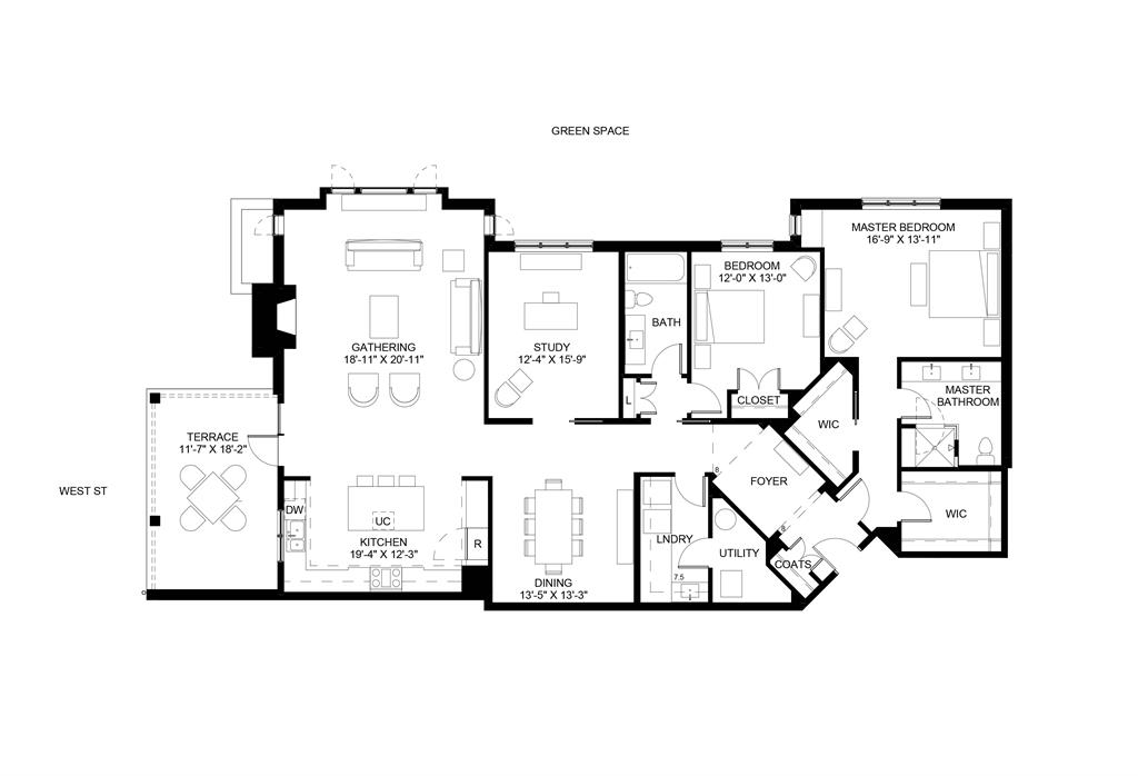 Floor Plan for 3818 Miami Rd, 202 Mariemont, OH 45227