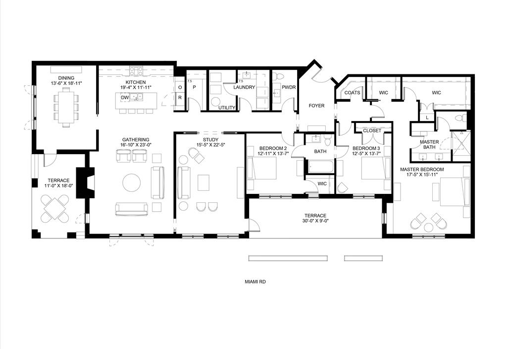 Floor Plan for 3818 Miami Rd, 101 Mariemont, OH 45227