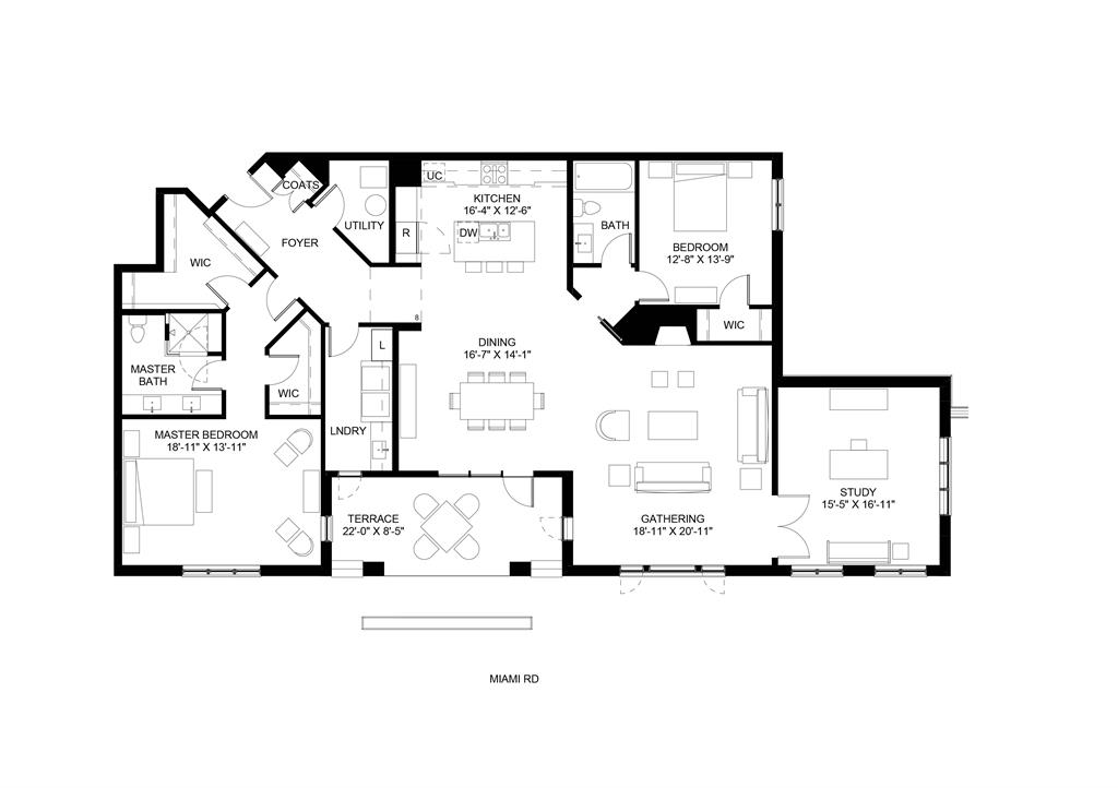 Floor Plan for 3818 Miami Rd, 105 Mariemont, OH 45227
