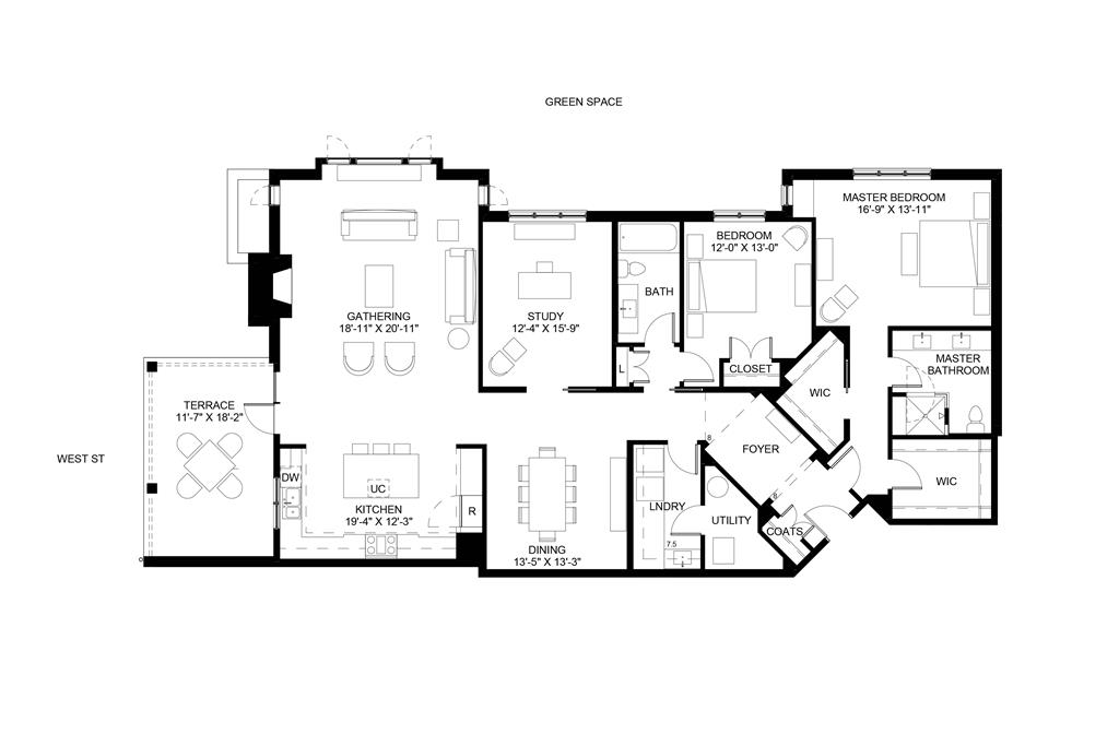 Floor Plan for 3818 Miami Rd, 102 Mariemont, OH 45227